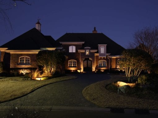 Low Voltage Landscape Lighting in Thistle Estates Neighborhood Sunset Beach NC 28468